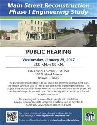 Main St Phase 1 Public Meeting Flyer