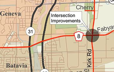 Intersection Improvement Kirk and Fabyan Kane County