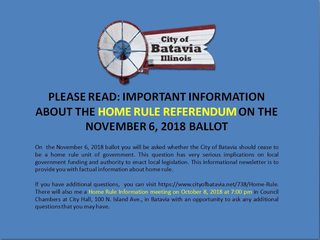Home Rule Referendum information