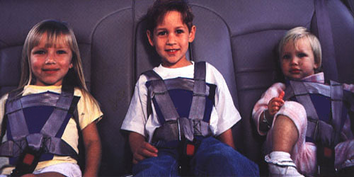 Kids in Seat Restraints - Link to The Ultimate Car Seat Guide